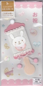 """Greeting Card New Baby Girl """"Love Poem"""" Envelope Is Decorated - Japan"""