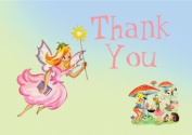 Dolce Mia Fairies Birthday Thank You Card Party Pack - 8 cards