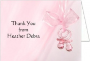 Pink Binkies Baby Thank You Cards - Set of 20