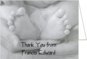 Black and White Toes Baby Thank You Cards - Set of 20