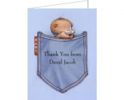Blue Jean Mouse Baby Thank You Cards - Set of 20