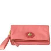 Coach 42414 Resort Clutch Leather Wristlet Pink