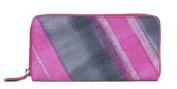 Lodis Austin Iris Zip Around Pink Clutch