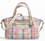 100% Authentic Coach Daisy Madras Large Satchel Convertible Crossbody Purse Bag 23389