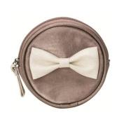 Lisbeth Dahl Grey Round Purse with Bow
