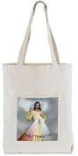 Womens Ladies Girls Catholic Gift Divine Mercy Jesus I Trust in You Devotional Large 38.1cm Square Canvas Purse Tote Bag
