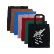 Small Burnt Orange Drop Beats Not Bombs Tote Bag - Created out of the words Drop Beats Not Bombs