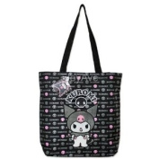 Sanrio KUROMI Black / Pink Devil Skull Tote Shoulder Bag