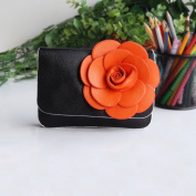 [Black Mystery] Flower Leatherette Clutch Shoulder Bag Clutch Casual Purse