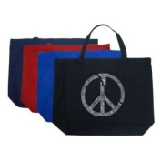 Large Royal Broken Peace Tote Bag - Created using every major world war since 1700