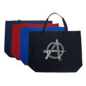 Large Royal Anarchy Tote Bag - Created using a list of some of the best and most popular Punk Songs of All Time