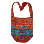 Handcrafted Embroidered Elephants Bohemian / Hippe / Gypsy Crossbody Bag India