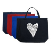 Large Red Lots of Love Tote Bag - Created out of the word love in many different fonts