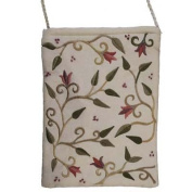 Embroidered Bag - Flowers - White CAT# PB - 3W