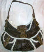 Sheer Bliss Brown Fake Leather Contemporary Girls Fashion Hand Bag
