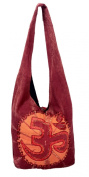 Om Yoga Bag - Shoulder / Sling Bag with Embrodiered Om Symbol Orange
