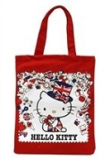 Hello Kitty Union Jack Tote Bag - 38.1cm Red