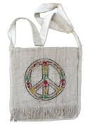 Hemp Peace Sign Purse Handbag with Rasta Colors