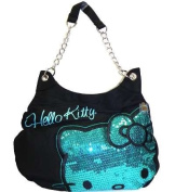 Hello Kitty Blue Sequins Handbag Purse