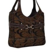 Signature Fashion Shoulder Cleto Handbag Purses-Brown