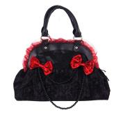 Black Skulls and Red Bows Shoulder Bag