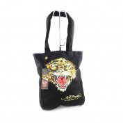 "Cabas bag ""Ed Hardy"" black tiger (a4)."