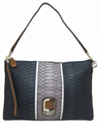 Guess Tisbury Small Top Zip Shoulder Bag, Black Multi