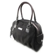 "Canvas bag ""Jacques Esterel"" brown."
