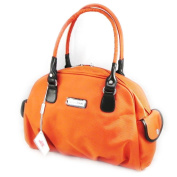 "Canvas bag ""Jacques Esterel"" orange."