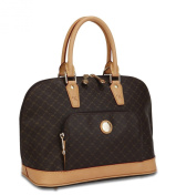Rioni Signature (Brown) - Dome Handle Bag St-20001