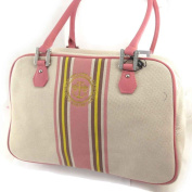 """'french touch' bag """"Ted Lapidus"""" pink beige."""