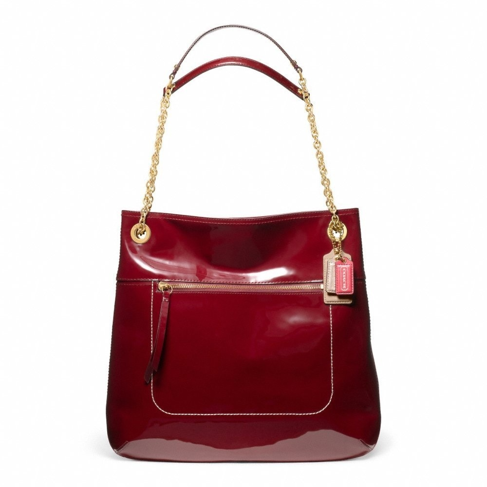 0b4b4b41bb Coach Poppy Patent Leather Slim Tote Handbag Purse Crimson Red 21583 by  Coach - Shop Online for Bags in Australia