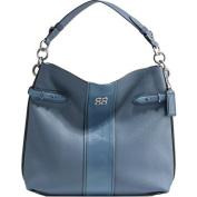 Coach Collette Leather Stripe Hobo 16457 Blue