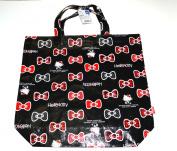 Black Hello Kitty Polyester Tote Bag - Medium Hello Kitty Shopping Bag