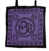Om - 45.7cm Printed Cotton Tote Bag with Strap