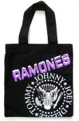 The Ramones Seal Black Canvas Tote Bag
