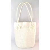 Satin Cream-Colored Purse