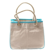 CB Station - Reliable Rope Tote- TURQUOISE Canvas Bag