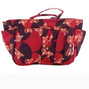 The Plaid Purse Bag Organizer - Red Ribbons