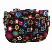 The Plaid Purse Bag Organizer - Autumn Flowers in Cotton