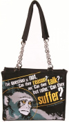 Calico Dragon Live Are Lost Animal Testing Prevention Canvas Vegan Tote Purse Black