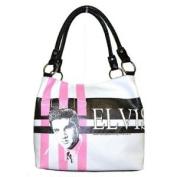 Elvis Presley Pink, White & Black Medium Two Way Tote Bag - EL1835