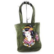 "Cabas bag ""Ed Hardy"" khaki geisha (a4)."