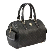 Rioni Signature (Black) - Small Boston Bag