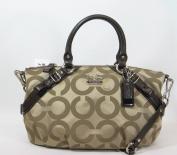 Coach Op Art Signature Madison Sophia Convertiable Satchel Bag Purse 17693 Khaki Brown