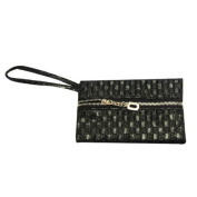 Wrapables Checkered Leather Wristlet Clutch