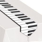 Printed Piano Keyboard Table Runner Party Accessory (1 count)