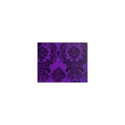 Taffeta Flocking Damask Table Runner. 33cm X 228.6cm - Purple