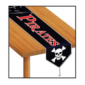 Printed Beware Of Pirates Table Runner Party Accessory (1 count)