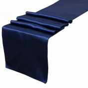 OurWarm Navy Blue Satin Table Runner 30.5cm x 274.3cm (Inch) Wedding Party Table Decoration
